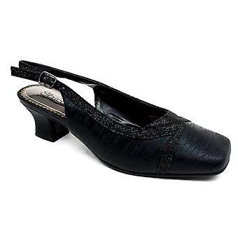 Square Toe Evening Sandal Black