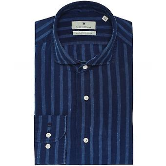 Thomas Maine Tailored Fit Linen Striped Roma Shirt