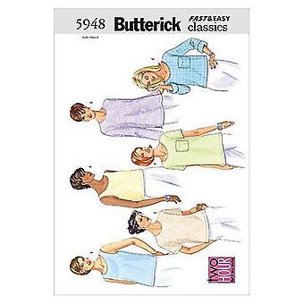 Butterick ompelu kuvio 5948 Misses Pullover Topit Koko 20-24