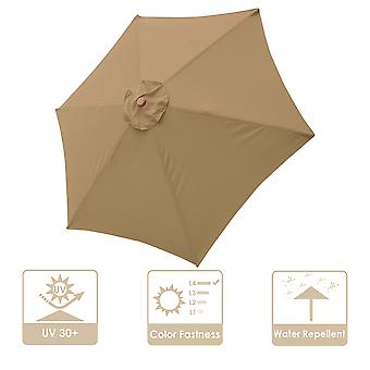 9' Patio Umbrella Replacement Canopy 6 Rib Outdoor Yard Deck Cover Top Color Opt