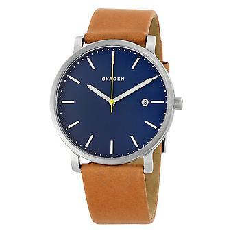 Skagen Holst cuero reloj para hombre SKW6279