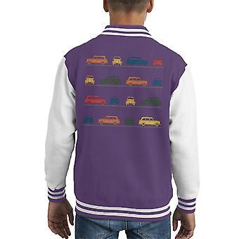 London Taxi Company TX4 Angled Colourful Montage Kid's Varsity Jacket