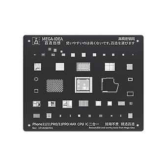 QianLi MEGA-IDEA - BGAステンシル - iPhone 11 / 11プロ / 11プロマックスCPU&IC - BZ32
