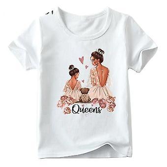New Fashion Family Look T-paita, Lasten ja naisten Toppit