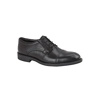 TredFlex Mayfair Mens Leather Gibson Shoes Black