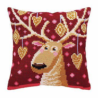 Samling d'Art Cross Stitch Kit: Kudde: Jul pepparkakor