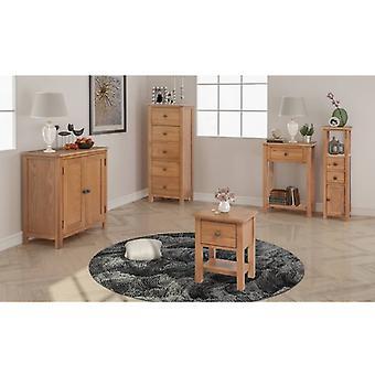 vidaXL Five-piece living room furniture set oak solid