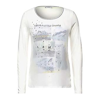 Cecil 315658 T-Shirt, Light Alabaster White, XL Woman