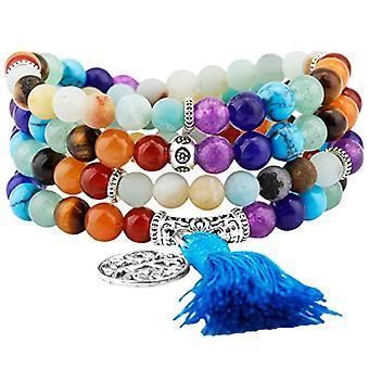KYEYGWO 108 - Bracelet with Mala prayer pearls for men and women, 6 mm, with Tibetan Buddhist healing stone, unisex Ref. 0635946998908