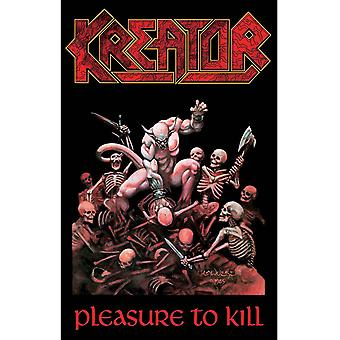 Kreator Poster Pleasure To Kill Band Logo new Official 70cm x 106cm Textile