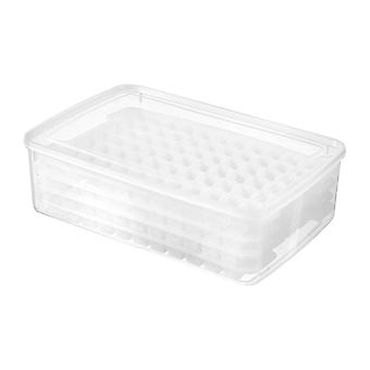 34cm Multi-layer ice tray mold ice maker creative household summer silicone mold(Transparent color)