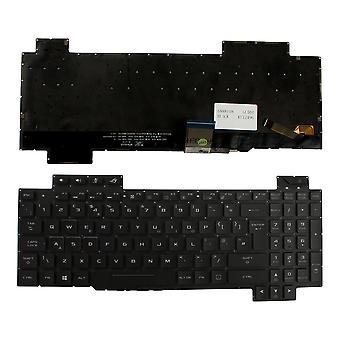 Asus GL504GS-ES058R Taustavalaistu musta Windows 8 UK Layout Korvaava kannettavan tietokoneen näppäimistö