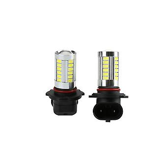 2 X 5630 33-smd 850lm led car fog light lamp bulb 9005 socket