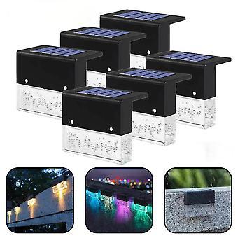 ソーラーライト6/4/1 PCセットデッキライトフェンスライトソーラーLED屋外ガーデンライト屋外ランプ屋外街灯階段ライトステップLEDライト