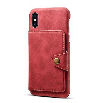 Étui de fente pour carte portefeuille en cuir pour iphone7/8 rouge pc4170