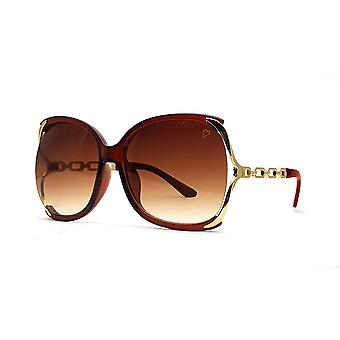 Ruby rocks cherry oversized sunglasses in crystal brown