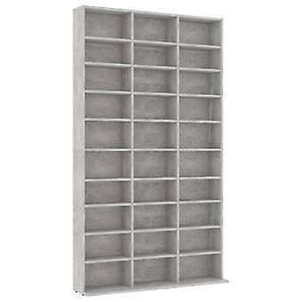 vidaXL CD shelf concrete grey 102x23x177.5 cm chipboard