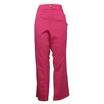IMAN Global Chic Women's Plus Jeans Denim Pull-On Bootcut Pink 734928681