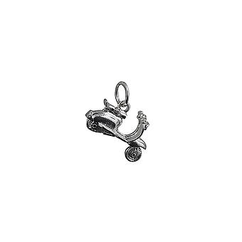 Silver 17x12mm Scooter Pendant or Charm
