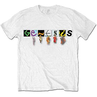 Genesis - Karakters Logo Unisex X-Large T-Shirt - Wit