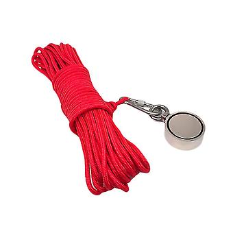 Practical Salvage Rope Ring Magnets Fishing Device Magnetic Sand Hitch Set Fishing Accessory (pulling 300kg)