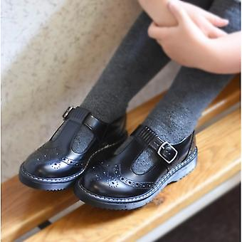 Start-Rite Imagine Girls Leather T-bar School Shoes Black