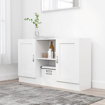 vidaXL Sivulevy Valkoinen 120x30,5x70 cm Lastulevy