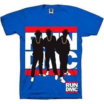 Run DMC Silhouette Blue Mens T Shirt: Medium