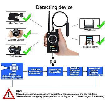 Détecteur espion Caméra Détecteur DÉTECTEUR DE SIGNAL RF Détecteur de bogue GPS Détecteur de caméra cachée Détecteur Radio