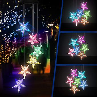 Wind Chimes Stars Wind Chime Lights Color Changing Led