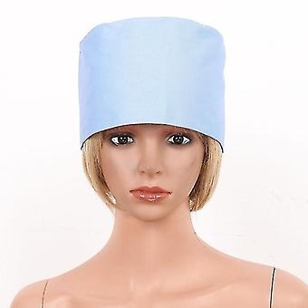 Cappello da lavoro protettivo riutilizzabile a tinta unita per medici e infermieri blu