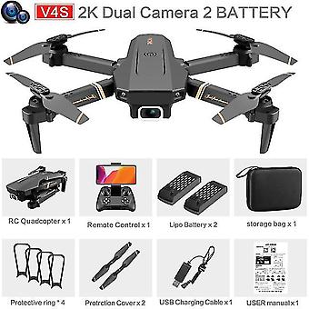 V4 rc drone 4k hd groothoekcamera 1080p wifi fpv drone dual camera quadcopter real-time