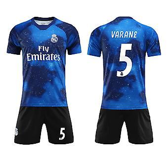Raphael Varane #5 Jersey Real Madrid CF Fly Emirates Fotboll T-Shirts Jersey Set för barnungdomar