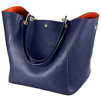 Women's Leather Purse and handbags ladies Waterproof Shoulder Commuter Bag(blue)