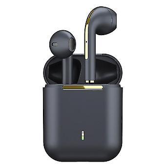 Bluetooth-Kopfhörer mit Stereo-True-Wireless-Sound (Schwarz)