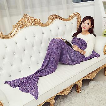 Pashmina-like Knitted Warm Mermaid Tail Blanket 140*70/180*90cm Wrap Coverlet