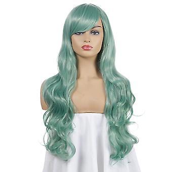 Wig Adult Women Halloween Costume Wigs  Long Curly 80cm Cosplay Wig