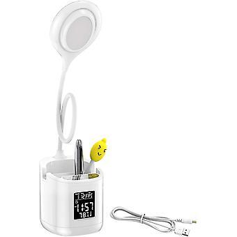LED Schreibtischlampe für Augen, flexible und rotierende Leselicht bei 360, dimmbare 3 Farbmodi 30%-100% Helligkeitsstufen