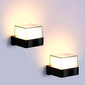 2pcs Außenwandlampe 10w * 2 Außenbeleuchtung Wasserdicht Ip65 Acryl Aluminium Lampe Innenhof Garten Terrasse Flur
