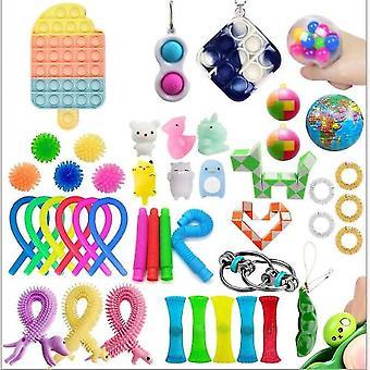 Toys Set Sensory Tools Bundle Stress Relief Hand Kids Adults Toys