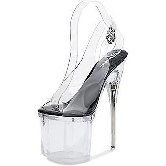 Anter kvinners sandaler høy hæl gjennomsiktige sandaler