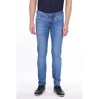 Menns Blå Rett Cut Jeans