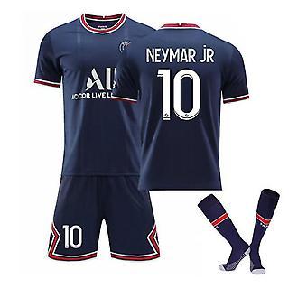Neymar Jr 10# Trikot Home 2021-2022 Saison Paris Fußball T-Shirts Trikot Set Für Kinder/ Jugendliche
