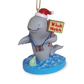 Whale in KERSTMUTS op Whale Watch kust Christmas Holiday Ornament Cape Shore