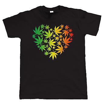 Ganja Herz Reggae Rasta T Shirt - alle Größen 4XL 5XL