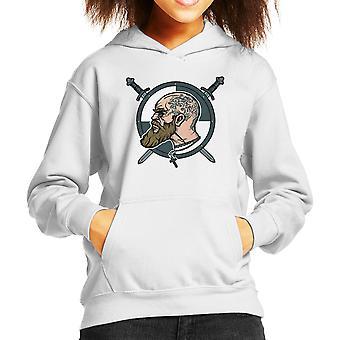 Norse Warlord Vikings Kid's Hooded Sweatshirt