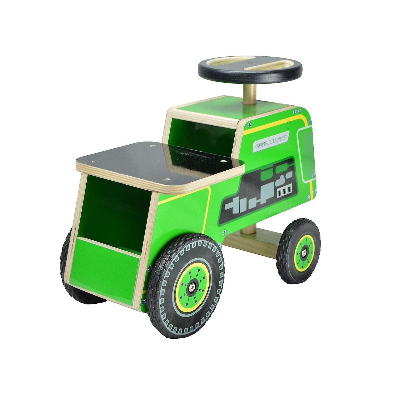 Kiddimoto Wooden Ride on Tractor 12m+