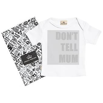 Spoilt Rotten Don't Tell Mum Short Sleeve Baby T-Shirt