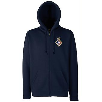 HMS Yorkshire Embroidered Logo - Official Royal Navy Zipped Hoodie Jacket