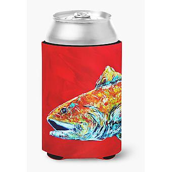 Fish - Red Fish Alphonzo Head Can or Bottle Beverage Insulator Hugger